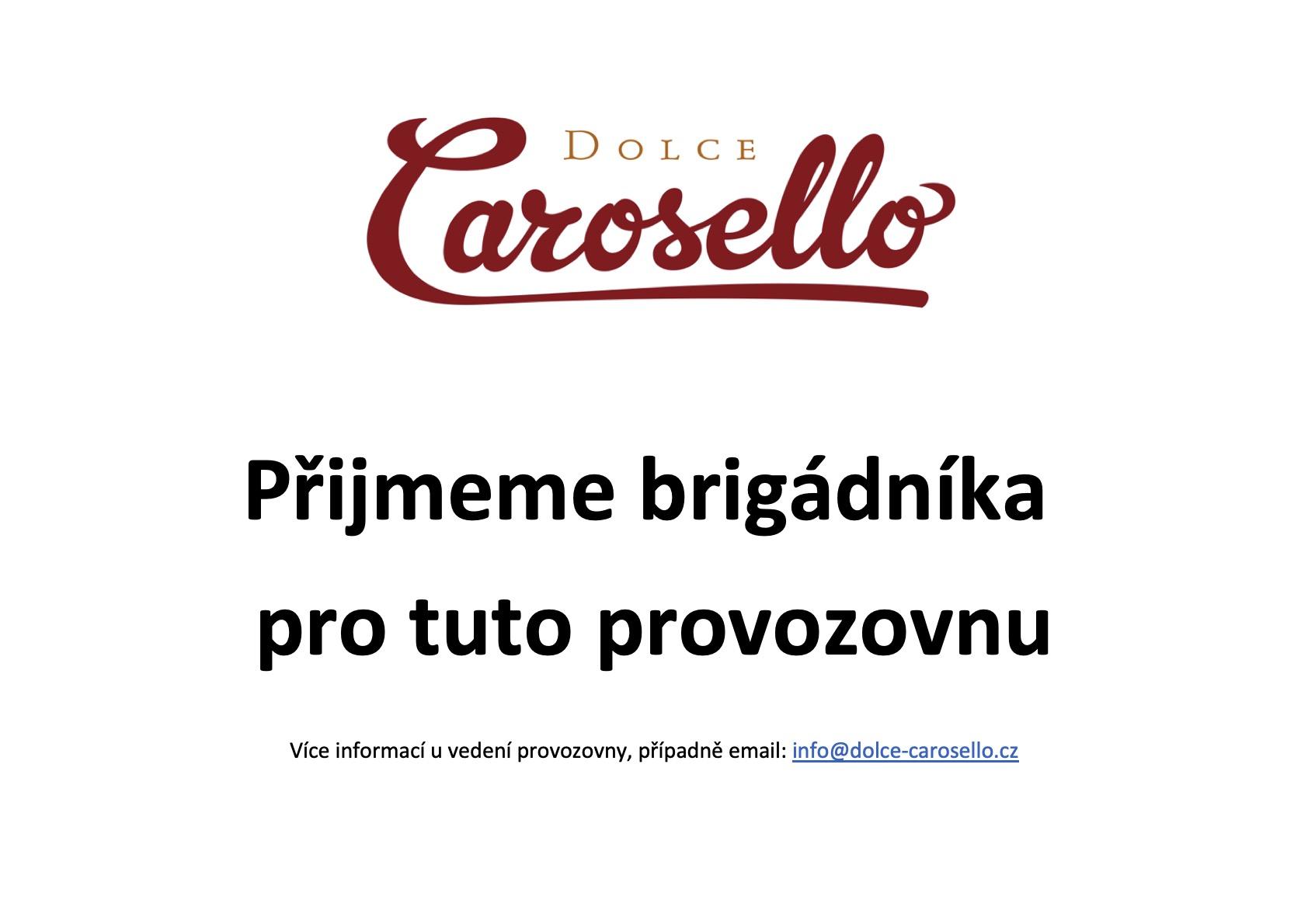 Přijmeme brigádníka dolce Carosello