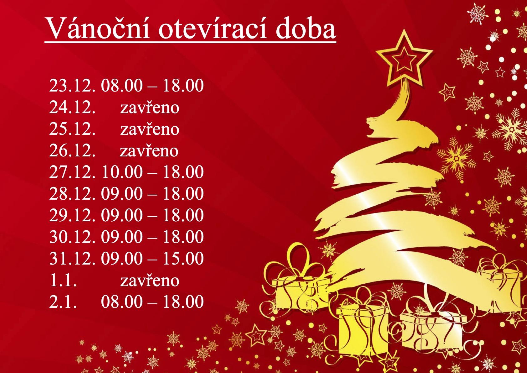 Vánoční otevírací doba - 2020 Dolce Carosello